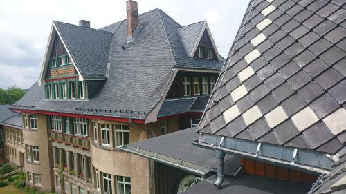 Blick Villa Haupthaus, Mai 2017 - Krankenhaus Sanatorium Dr. Barner