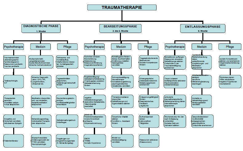 PTBS Therapie - Organigramm Sanatorium Dr. Barner
