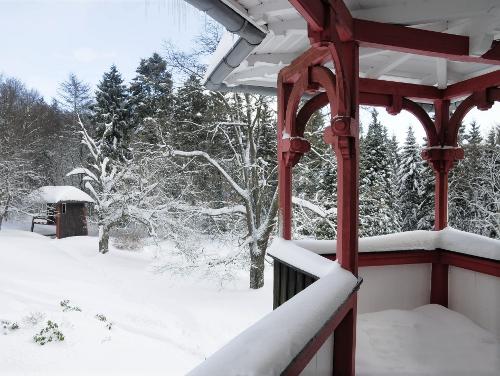 Blick auf die Lufthütte - Krankenhaus Sanatorium Dr. Barner